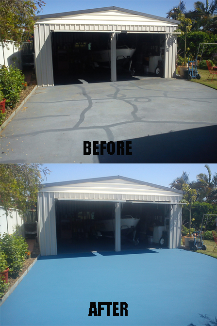 Driveway and footpath resurfacing brisbane, caboolture, beachmere and bribie island