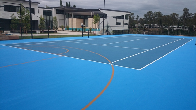 Tennis Court Applicator. Tennis Court Painting and Resurfacing Brisbane