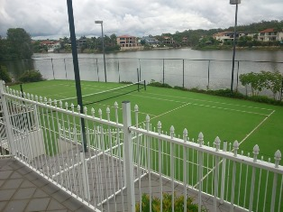 Tennis court painting / tennis court resurfacing
